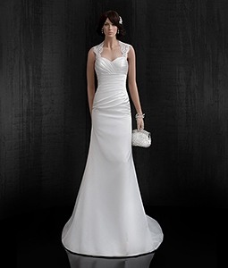 a line wedding dress m16026 by impooria. Black Bedroom Furniture Sets. Home Design Ideas
